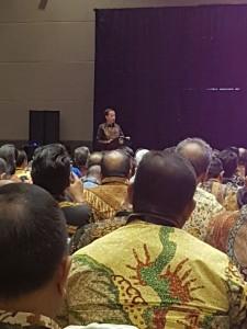 Presiden Joko Widodo saat membuka Rapat Kerja