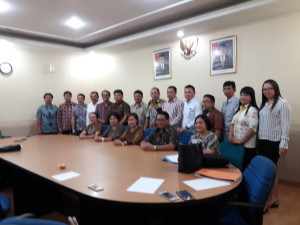 Rombongan dari Tomohon  bersama Sekretaris Dirjen didampingi Kabag Humas Kementerian ATR/BPN