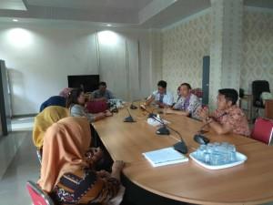 Sekretaris DPRD Tomohon daj jajaran menerima kunjungan SEkretariat  DPRD Kabupaten Gorontalo