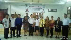 Jenny Sompotan, Ketua LPM Tomohon serta jajaran pengurus usai pemilihan