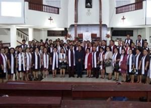 James Sumendap ,Ibadah Paskah,  GMIM Dame Tosuraya