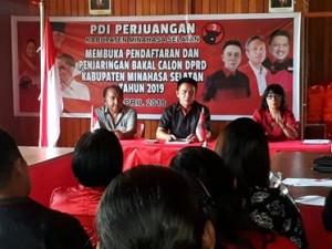 PDI-P Minsel Tegaskan Tak Ada Mahar Politik Dalam Perekrutan Bakal Caleg