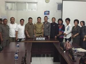 Plt Bupati Ronald Kandoli Penuhi Panggilan Pansus Hak Angket DPRD Mitra