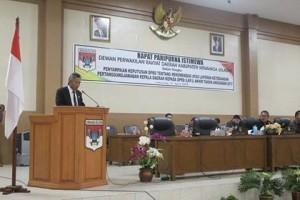 Rapat Paripurna Istimewa Penyampaian Keputusan DPRD Minsel Tentang Rekomendasi LKPJ Kepala Daerah Tahun Anggaran 20172