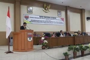 Rapat Paripurna Istimewa Penyampaian Keputusan DPRD Minsel Tentang Rekomendasi LKPJ Kepala Daerah Tahun Anggaran 2017