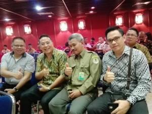 Wali Kota Tomohon bersama jajaran saat menghadiri Rakornas