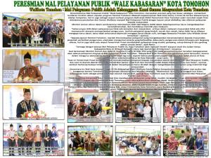Dua Menteri Resmikan Mal Pelayanan Publik Wale Kabasaran Tomohon