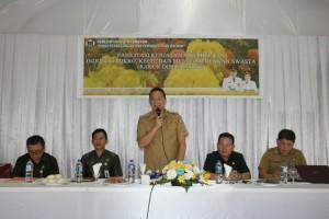 Wali Kota Tomohon membuka kegiatan sekaligus memberikan sambutan