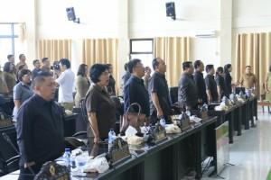 Para anggota DPRD Kota Tomohon