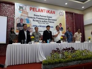 Wali Kota Tomohon melantik DPC LPM Lima Kecamatan