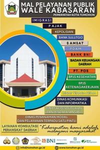 Pertama di Indonesia Timur, Mal Pelayanan Publik Tomohon Diresmikan Sabtu