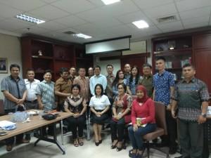 Pimpinan DPRD Tomohon  dan Pansus Laporan Keterangan Pertanggungjawaban Wali Kota Tahun 2017 di Bappenas