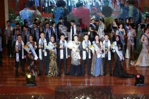 Para pemenang Putra dan Purtri Pariwisata Nusantara 2018