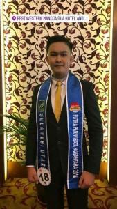 gabriel Rogi, Juara Ketiga Putra  pariwisata Nusantara Tahun 2018