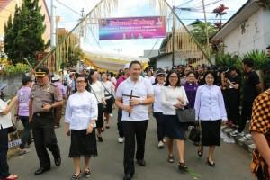 Wali Kota ambil bagian dan menjadi peserta Pawai Paskah