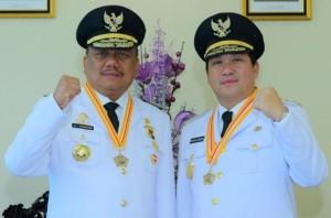 Gubernur Sulawesi Utara (Sulut) Olly Dondokambey dan Wakil Gubernur Steven Kandouw atau OD-SK