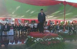 Gubernur Sulut ,Olly Dondokambey SE, Upacara Hardiknas 2018