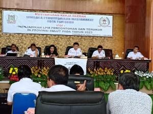 Ketua DPD  LPM Tomohon memimpin Mukerda