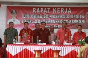 Penjabat Bupati Minahasa ,Drs. Royke H. Mewoh,Remboken