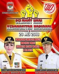 Harkitnas ke-110 , Harkitnas Pemkab Minsel, Franky Donny Wongkar