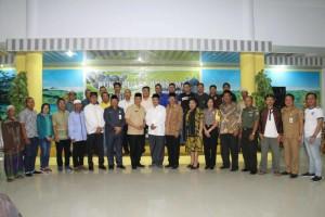 Wali Kota Tomohon, petinggi Umat Muslim, Forkopimda, FKUB, BKSAUA, Bamag serta JIT