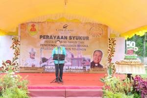 Wali Kota Tomohon memberikan sambutan