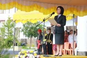Ketua DPRDE Tomohon Ir Miky JL Wenur bertindak sebagai Irup Upacara Peringatan Hardiknas Tahun 2018 di Kota Tomohon