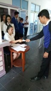 Suasana pemilihan ketua Himaju Pariwisata Politekni Negeri Manado