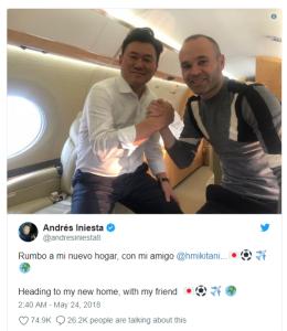 Hengkang Dari Barcelona, Andres Iniesta Putuskan Pindah ke Klub Ini
