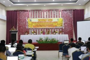 Wakil wali Kota Tomohon membuka kegiatan Bimtek
