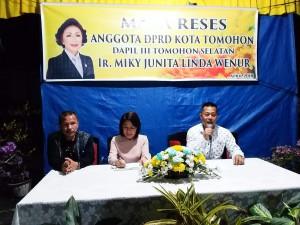 Reses Ketua DPRD Tomohon Ir Miky JL Wenur
