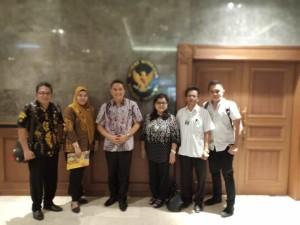 Wali Kota dan rombongan di Kementerian Kesehatan