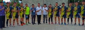 Pnt Jimmy F Eman SE Ak bersama Tim Bola Voli P/KB Wilayah Tomohon Satu