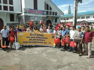 HUT Bhayangkara Ke-72, Polres Minahasa