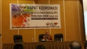 KPU Minahasa, rakor penyerahan DPS