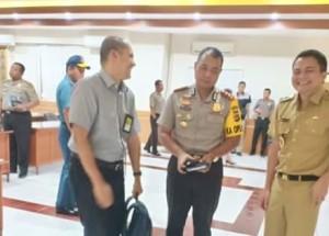 Plt Bupati Ronald Kandoli Hadiri Rakor Pengamanan Idul Fitri di Polda Sulut