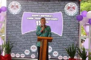 Wabup FDW Hadiri Ibadah Syukur HUT ke -123 GMIM SION Raanan Baru