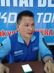 Ketua DPC Partai Demokrat Tomohon Youddy YY Moningka SIP
