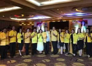 Jimmy F Eman SE Ak bersama Fungsionaris Partai Golkar di Rakerda