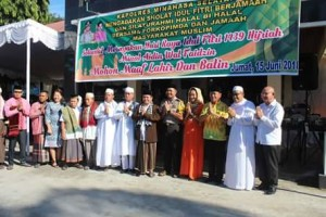 Rayakan Idul Fitri 1439 H, Umat Muslim Sholat Ied di Lapangan Polres Minsel