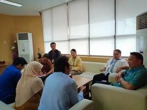 Wali Kota Tomohon dan rombongan saat di Kementerian Keuangan