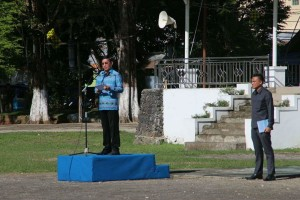 Apel Perdana Usai Libur Idul Fitri, DR Ir GS Vicky Lumentut