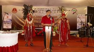 Penjabat Bupati Minahasa, Drs Royke H Mewoh DEA,Tugu Kawangkoan, Kumpulan Mapalus Kawangkoan, Pulang Kampung Kawangkoan Ro'ong Kalelon
