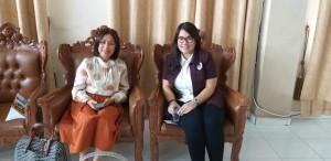 Ketua Panitia FSPG GMIM 2018 Pnt Ir Miky JL Wenur dan Ketua Komisi Pemuda GMIM Pnt dr Pricillia Tangel