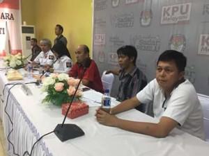 KPU Mitra Gelar Pleno Rekapitulasi Surat Suara Pilkada Mitra 2018
