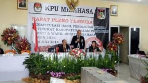 Malonda Buka Rapat Pleno Rekapitulasi Suara Pilkada Minahasa 2018