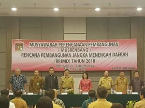 Musrenbang RPJMD 2018, Bappelitbangda minahasa