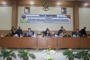 Rapat Paripurna Pertanggung Jawaban Pelaksanaan APBD Tahun Anggaran 2017 DPRD Minsel