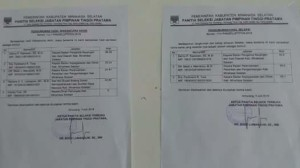 Ferdinand Tiwa, Danny Kaawoan ,Meidy Maindoka, calon Sekda Minsel