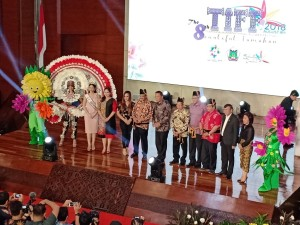Ketua DPRD Tomohon saat menghadiri Konferensi Pers TIFF 2018